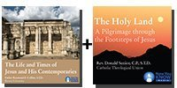 Audio / Video Bundle: The Life and Times of Jesus and His Contemporaries + The Holy Land: A Pilgrimage through the Footsteps of Jesus 2nd Edition - 9 Discs Total-0