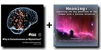 Audio/Video Bundle: Why is Consciousness so Mysterious? + Meaning: Exploring the Big Questions of the Cosmos with a Vatican Scientist - 7 Discs Total-0