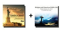 Audio Bundle: Freedom of Speech: Understanding the First Amendment + Religion and American Public Life - 9 CDs Total-0